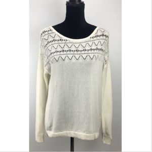 Abound Sweater Junior Knit Scoop Neck Long Sleeve